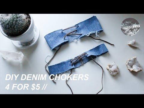 FOUR DIY DENIM CHOKERS UNDER $5