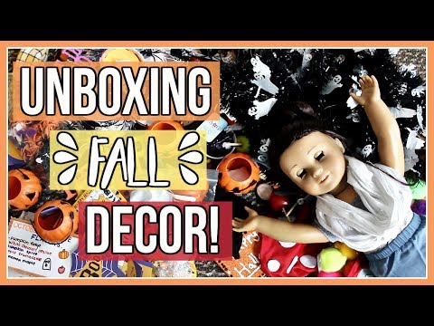 UNBOXING FALL DECOR! | Unboxing my American Girl Doll Fall & Halloween Decorations 2017