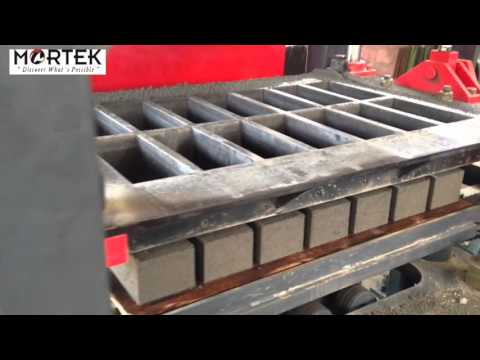 Mortek 14-42 Fly Ash Bricks Making Machine Customer Site Video