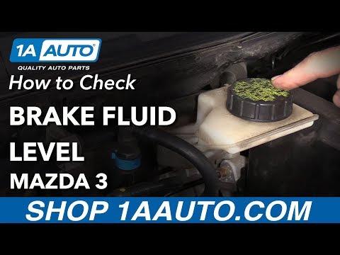 How to Check Brake Fluid 03-09 Mazda 3