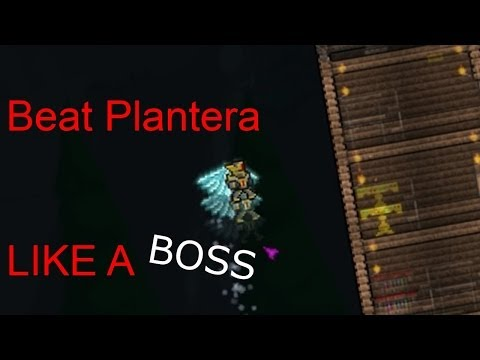 Terraria - How To Beat Plantera LIKE A BOSS