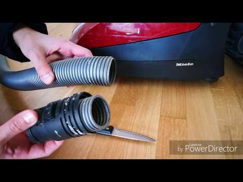 Fix vacuum cleaner hose easily in 5 min (miele classic c1)اصلاح المكنسة الكهربائية بالبيت