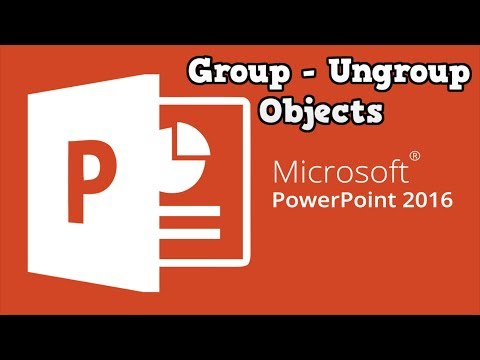 How to Group and Ungroup Objects in PowerPoint 2016/2013