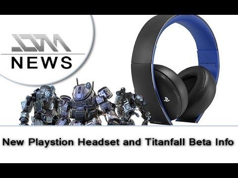 Playstation Gold Wireless Headset | Titanfall Beta Info