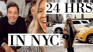 Download 24 Hours in NYC: Meeting Jimmy Fallon & Seth Meyers, SNL and NBC Tour! Video