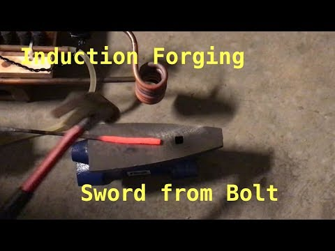 Induction Forging Sword from Bolt