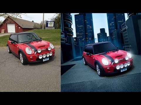 Photoshop cc Tutorial : How to Change the background of the car (mini cooper) to be more cool