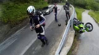 Kawasaki Z250 Crash