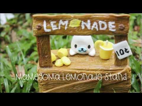 Mamegoma lemonade stand figurine