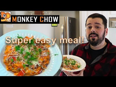 One Pot (Turkey) Penne Pasta! Quick and Easy! Monkey Chow EP. 1