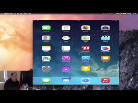 Play & Record iPad Mini Screen on your Mac Desktop