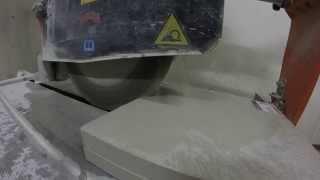 Cutting Stone Samples (Linen- Caesarstone Quartz)