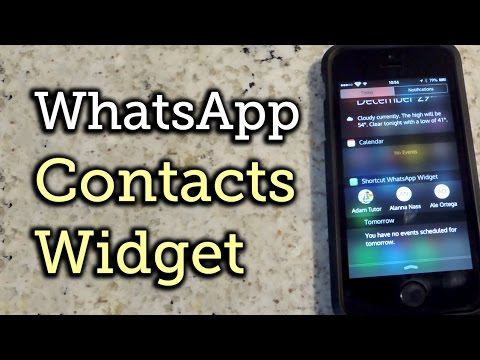 Add WhatsApp Contacts to Your iPhone's Notification Center - iOS 8 [How-To]