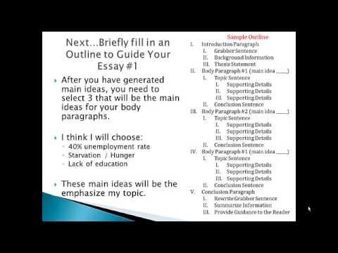 Generating Ideas When Writing