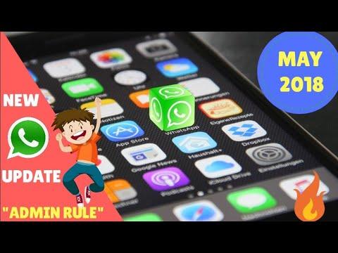 Whatsapp update 2018 admin control group catch up   group description view participant search