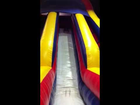 Luke and the bouncy slide