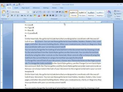 Word 2007/2010 - setting vertical spacing, bullets, defaults