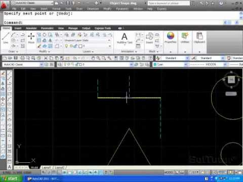 AutoCAD 2D - Object Snaps - osnap - Overview