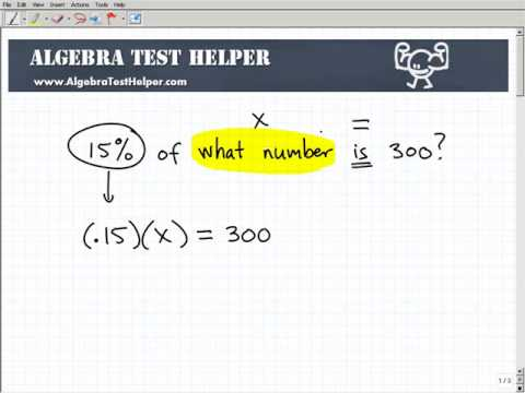 Learn How To Solve Percent Problems