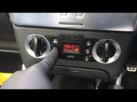 Audi TT climate control codes 49c hidden menu
