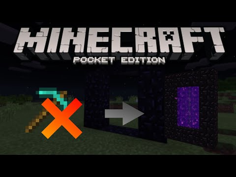 Make a Nether Portal without a Diamond Pickaxe - Minecraft PE(Pocket Edition)
