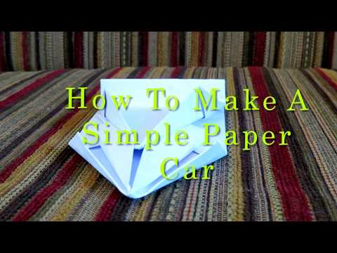 How to make a simple paper car - Origami car