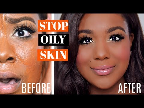 HOW TO APPLY MAKEUP TO OILY SKIN & MAKE FOUNDATION MATTE ALL DAY