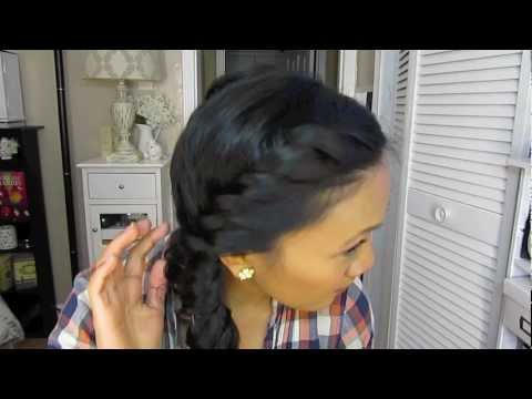 A cute hair style for wet hair
