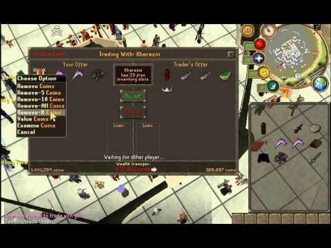 Runescape scamming free trade