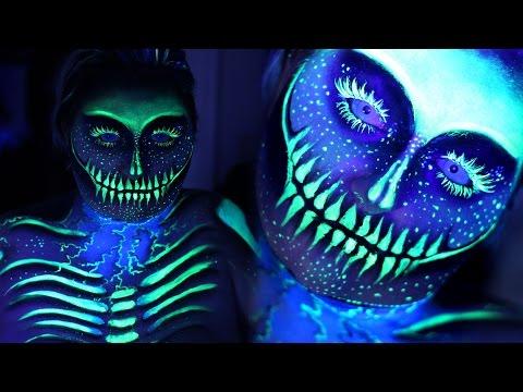 ELECTRIC UV BLACKLIGHT SKELETON | SFX Makeup Tutorial | NYX Face Awards 2016 Entry | RawBeautyKristi