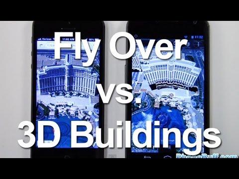 Fly Over On iOS Maps vs 3D Buildings On Google Earth