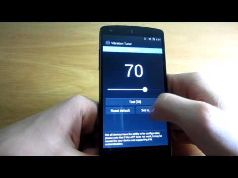Vibration Config - Change The Vibration Intensity of Your Android Device! [ROOT]