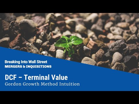 DCF - Terminal Value - Gordon Growth Method Intuition