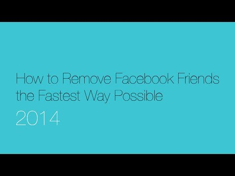 How to Delete Facebook Friends Fast - 2014