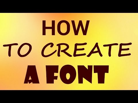 How to Create a Font