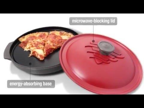 Reheatza Microwave Pizza Pan - Reheat Pizza with a Crispy Crust!