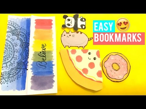 Bookmarks - 3 Cute & Easy DIY Bookmarks !