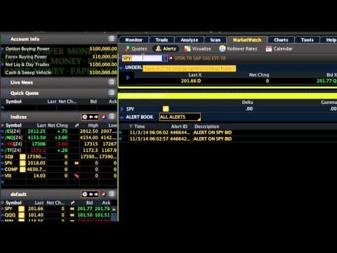 How to Set Up Stock Price Alerts (Email & Text): TD Ameritrade thinkorswim [Stock Market 101]