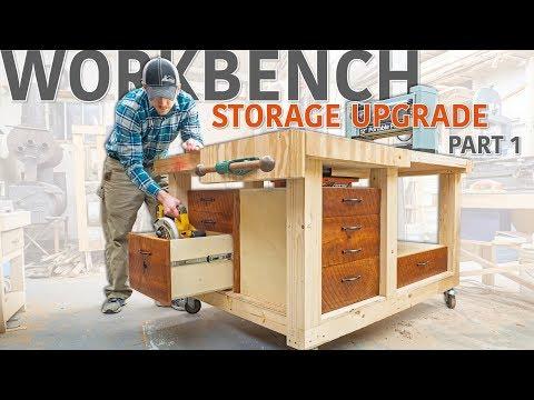 Double Flip Top Workbench - Storage Upgrade (Part 1 of 2)