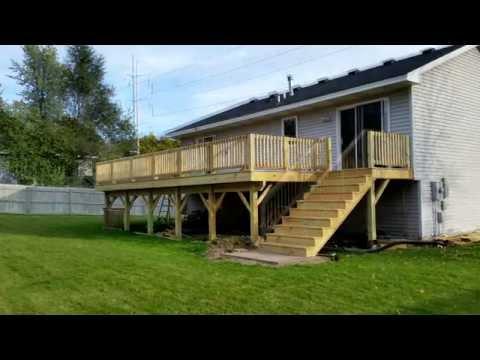 Build a Deck DIY -Time Lapse Home Improvement