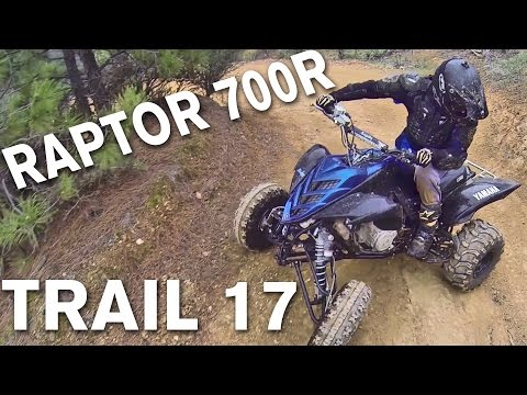 Raptor 700 ATV Adventure Riding on Trail 17