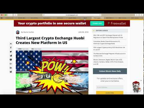EOS Airdrops | EOS Launch Live Update | ICON Carboneum | Huboi HBUS Crypto Exchange