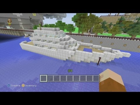 Minecraft Xbox 360 Edition: How To Build a Small Yacht