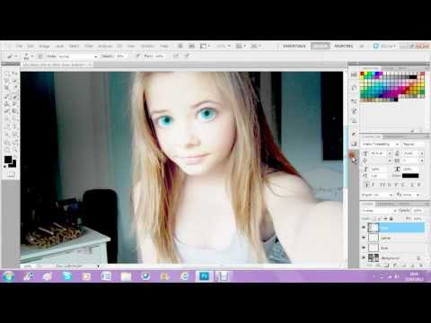 Photoshop cs5 - Big Eye Effect