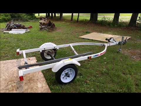 Replacing bunks on 1996 Shoreland'r Jet Ski Trailer PWC1000