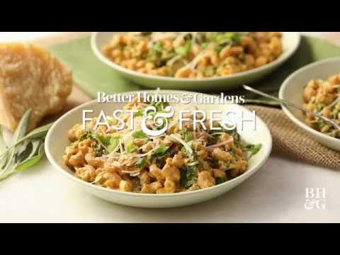 Macaroni Alfredo with Pumpkin and Kale | Cooking: How-To | Better Homes & Gardens