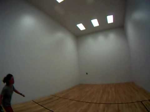 Cut throat racquetball with GoPro Helmet cam!
