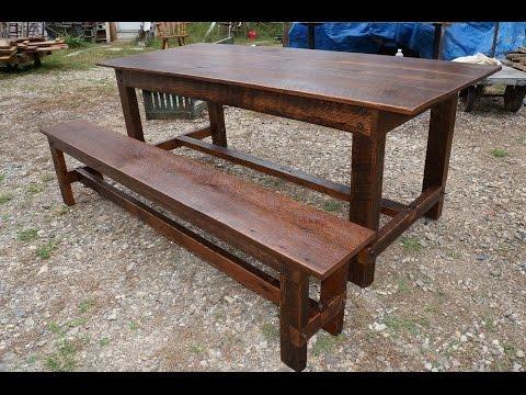 Barn Wood Oak Harvest Table