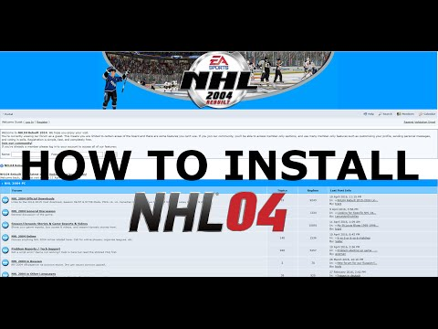 How to Install NHL 2004 Rebuilt Mod