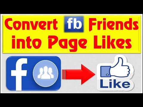 How to Convert Facebook Profile ID (Friends) into Page Likes
